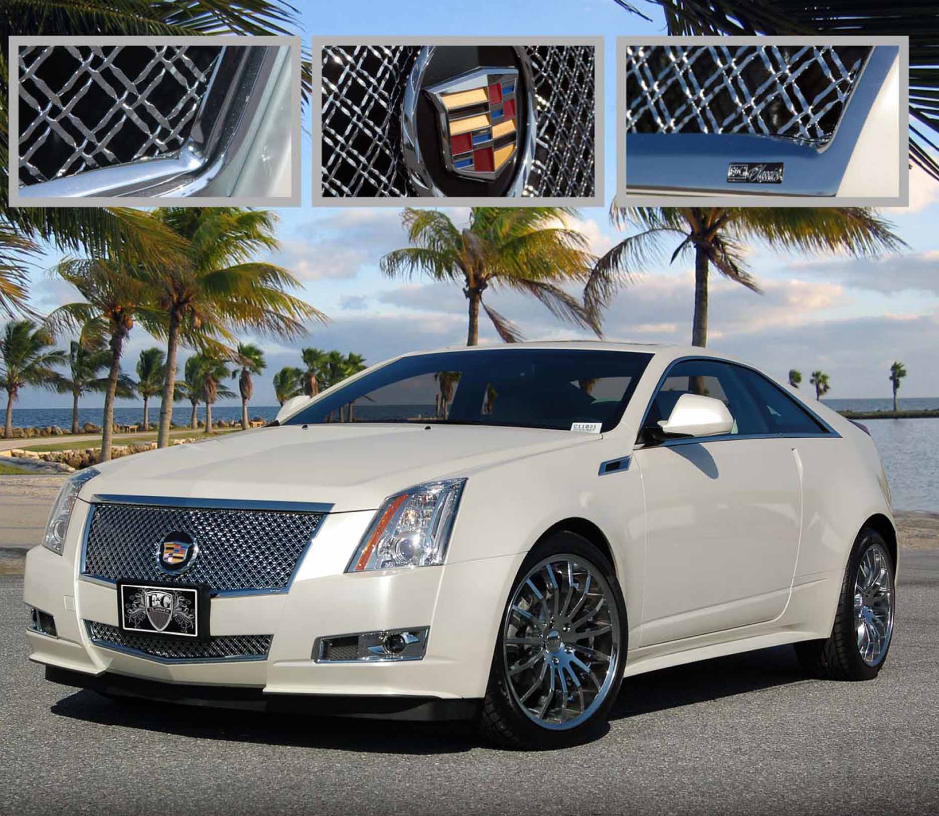 E&G Classics Cadillac CTS Grille Wing EGX Body Kit