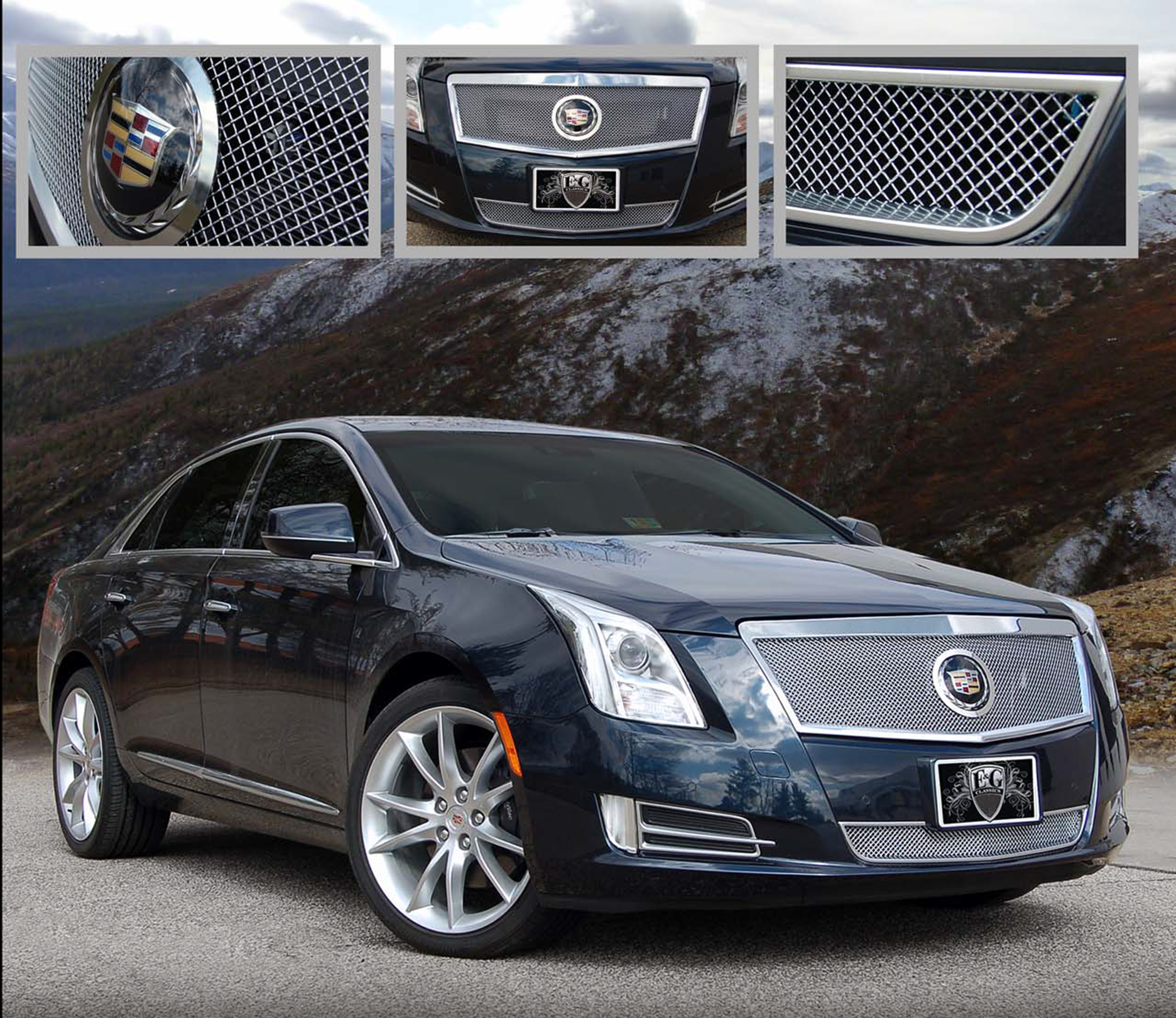 e g classics cadillac xts grille wing body kit. Black Bedroom Furniture Sets. Home Design Ideas