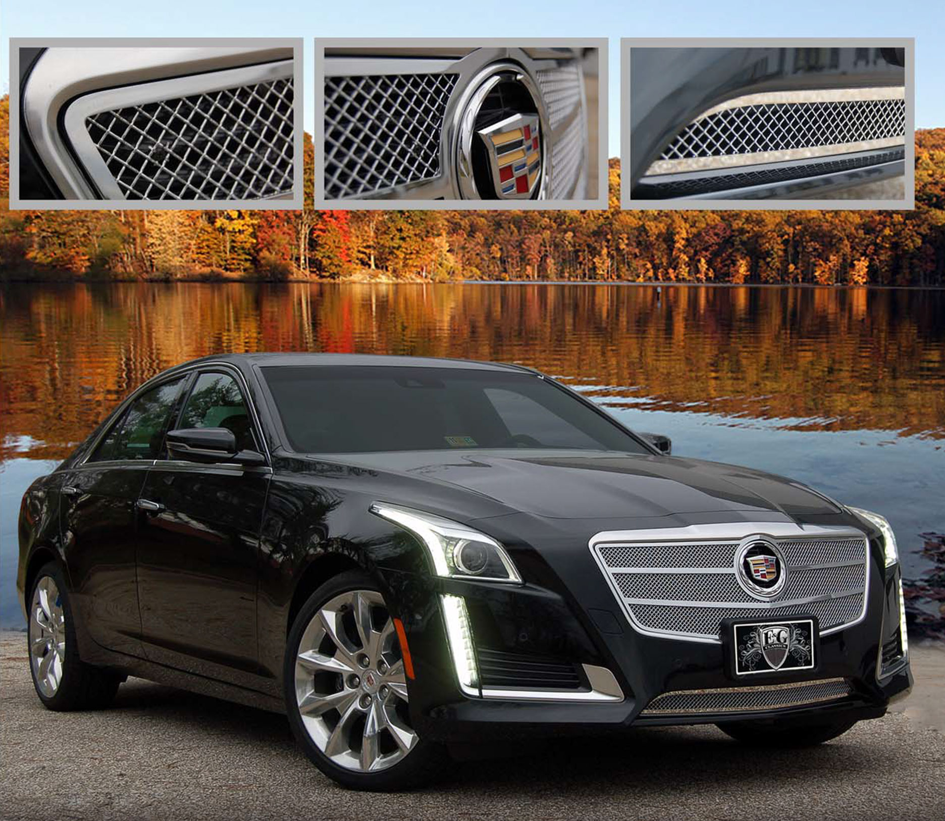 E&G Classics Cadillac CTS Grille Wing Body Kit Wheel